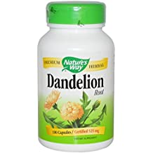 Nature's Way Dandelion Root; 525 mg Dandelion Root per serving; Non-GMO Project Verified; Gluten Free;Vegetarian;180 Vegetarian Capsules