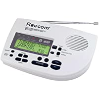 Unique 185 Hours Back-up Battery Life Time (Standby), Reecom R-1650 SAME Weather Radio with AM/FM (Light Grey), 24 Siren Volume, Display Event Message and Effective Time At a Glance, EOM Detection