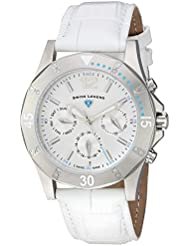 Swiss Legend Womens Paradiso Swiss Quartz Stainless Steel and Leather Casual Watch, Color:White (Model: 16016SM...