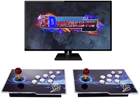 [3399 HD Arcade Games] Pandora's Box 11S 2 Players Arcade Game Console 3-d Retro Video Arcade Game Console with Two Separate Joysticks and 3399 Retro Games for PC/Laptop/TV