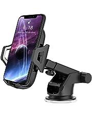 Soporte Móvil Coche hanmir Soporte Móvil Coche para Salpicadero/Parabrisas/Rejillas del Aire de Coche 360° Rotación Telescópico para iPhone x/8/7/6 Plus/6s/5s/SE, Android Smartphone y GPS Dispositivo