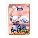 Bill Spiers autographed baseball card (Milwaukee Brewers) 1989 Topps #115T Traded Set - Autographed Baseball Cards