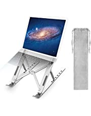 2NLF Laptop Stand, Foldable Portable Laptop Stand Holder for Desk, Ergonomic Multi-Angle Adjustable Aluminum Light Weight Laptop Mount for 10''-17'' MacBook, iPad, Notebook