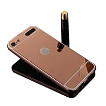 iPod Touch 5 /6 Case,Shinetop Mirror Case -Luxury Metal Aluminum Bumper Frame Detachable Bling Mirror PC Hard Back Case Cover Slim Fit Shock-Absorption Protective Shell for iPod Touch 5 /6 -Rose Gold