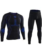 AORAEM Men's Winter Thermal Underwear Clothing Set Warm Long Johns Pants Sport Suits