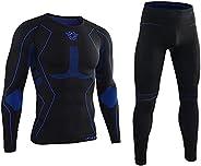 AORAEM Men's Winter Thermal Underwear Clothing Set Warm Long Johns Pants Sport S