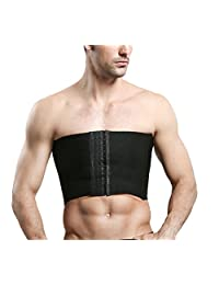 Gynecomastia Hide man-boobs Super Flat Strapless Compression Clasp Chest Binders