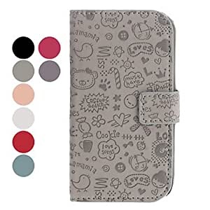 Zaki-Little Evil Girl Pattern PU Leather Case for Samsung Galaxy S4 I9500 (Assorted Colors) , White