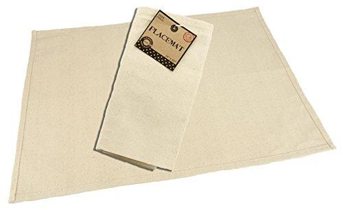 Canvas Home Basics CVS1144 Canvas Placemat, 14