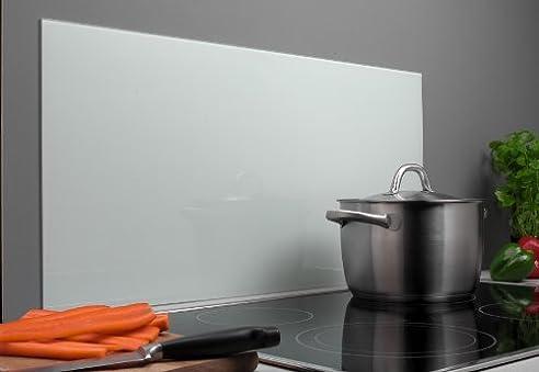 Spritzschutz Aus Glas, 800 X 400 X 4 Mm, Farbe: Weiß/Frosted