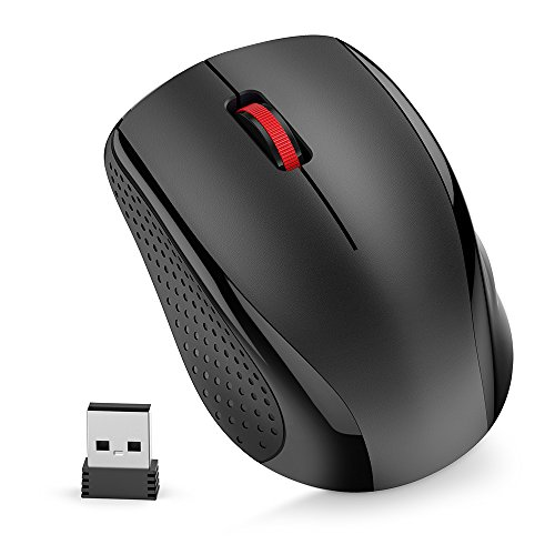 Nulaxy 2.4G Ergonomic Wireless Mouse, Portable Mobile Computer Mouse Optical Mice with USB Receiver, 3 Adjustable...