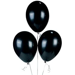 Onyx Black Latex Balloons (2 Dozen), 11""