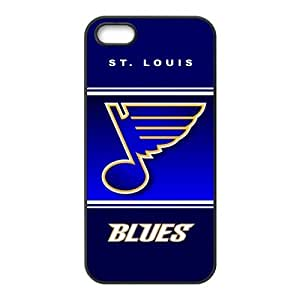 Custom ST Louis Blues Back Cover Case for iphone 5,5S JN5S-1185