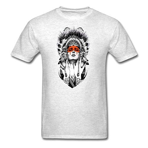 TpIss Indian Goddess Western Race Light oxford T-Shirt for Men Medium