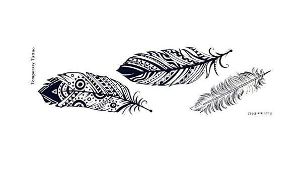 Temporal Tatuajes Adhesivos de largo tira temporal en longitud ...