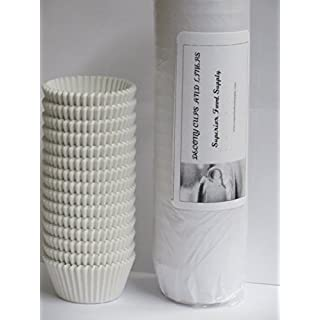 White Standard Size Cupcake Paper Baking Cup Liners- 2'' x 1-1/4=4.5 -APPX. 2 PACK 500= 1000 PACK