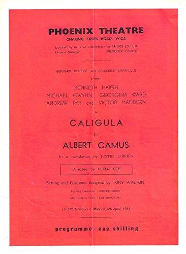 "Kenneth Haigh ""CALIGULA"" Michael Gwynn / Victor Maddern 1964 London Playbill"