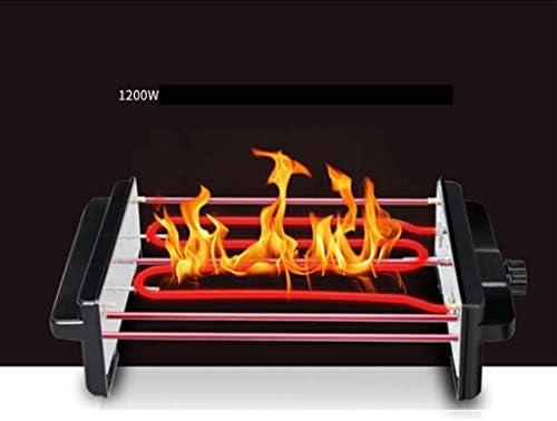 Grills électriques, Récipient pour barbecue, Gril électrique coréen sans fumée Cuisine détachable Double filet grillé Plaque antiadhésive en acier inoxydable