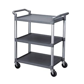 -TIER BUS CART, GREY, ( KD )