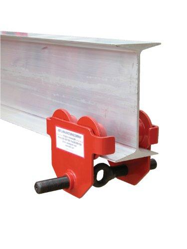 Vestil E-MT-6 Steel Low Profile Eye Manual Push Trolley, 6000 lbs Capacity, 3''- 8-5/8'' I-Beam Flange, 3-3/8'' Headroom by Vestil (Image #1)