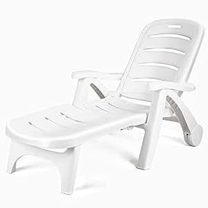 Amazon.com: MBN - Tumbona reclinable plegable de plástico ...