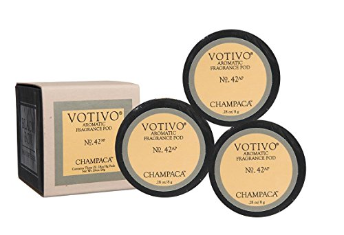 Votivo Fan Diffuser Aromatic Fragrance Pods - Champaca
