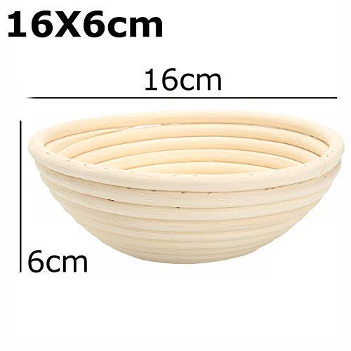 Best Quality - Storage Baskets - Bread Basket Banneton Brotform Rattan Proofing Basket Liner Round Oval Fruit Tray Dough Food Storage Container Organizer Basket - by GTIN - 1 PCs ()