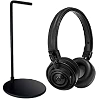 Master & Dynamics MH30 Black Headphones Bundle w/MP1000 Black Stand