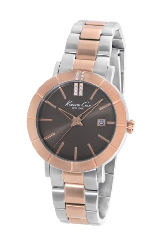 Kenneth Cole New York Women's KC4866 Classic Rose Gold Bezel Brown Dial Bracelet Watch