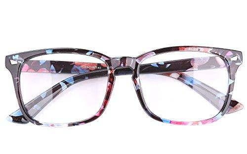 e8873ffcfee44 Agstum Wayfarer Plain Glasses Frame Eyeglasses Clear Lens - Import ...