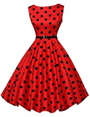 Something radiantly retro for you, darling. The dress is a 1950s circle swing style that's vibrant. A modest bateau neckline with a banded natural waist and full circle swing skirt that falls in a fabulously voluminous A-line silhouette. This...