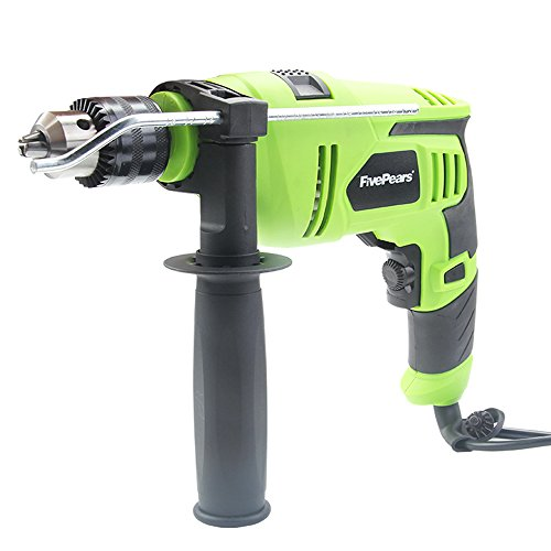 FivePears 220V Hammer Drill 7.0 Amp 1/2-Inch 2300rpm Reversible with Variable Speed,Locking Speed Button,360-Degree Adjustable Side Assist Handle by FivePears