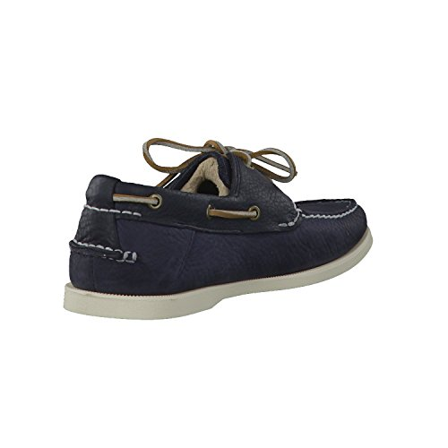 Timberland Earthkeepers Heritage Boat 2 Eye - Zapatos de cuero para hombre Navy with Finish Plan