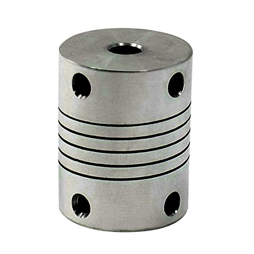 - Uxcell a13052700ux0319 6.35mm to 8mm CNC Stepper Motor JAW Shaft Flexible Coupling Coupler