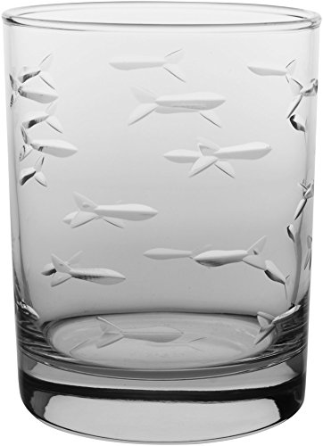 Rolf Glass 14 oz. Fish DOF Glass One Size Clear