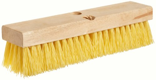 "Weiler 44438 12"" Block Size, 6 X 20 No. Of Rows, Wood Block, Polypropylene Fill, Deck Scrub Brush"