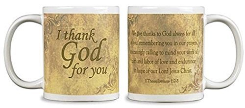 Bible Verses Teachers - I Thank God for You Ceramic Coffee Mug, 10 oz