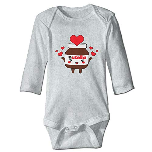 (XHX Infant Cute Nutella Long Sleeve Romper Onesie Bodysuit Jumpsuit)