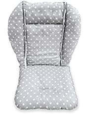 High Chair Pad,high chair Cushion/Seat Cushion Protective Film Breathable Pad (gray Background Stars Pattern)