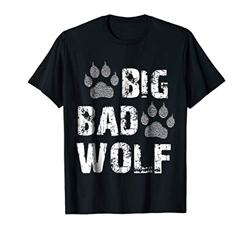 Big Bad Wolf Paw Print Halloween Costume T-Shirt]()