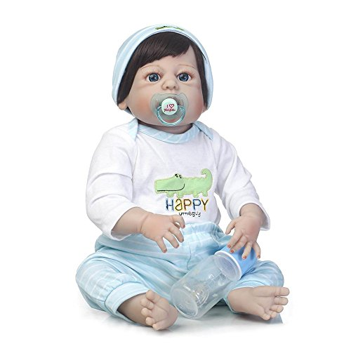 chinatera Reborn Dolls, Lifelike Realistic Vinyl Silicone Dolls, Bedding Bath Toy Gift Set for Infant Toddler, Forest Paradise Series, (Rose Apple) ()