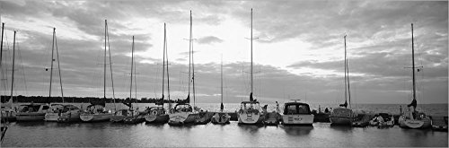 (USA, Wisconsin, Door County, Egg Harbor, Sunset by Panoramic Images Laminated Art Print, 52 x 17 inches)