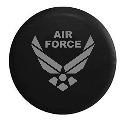 Stealth - USAF Air Force Spare Tire Cover Vinyl Black 33 in