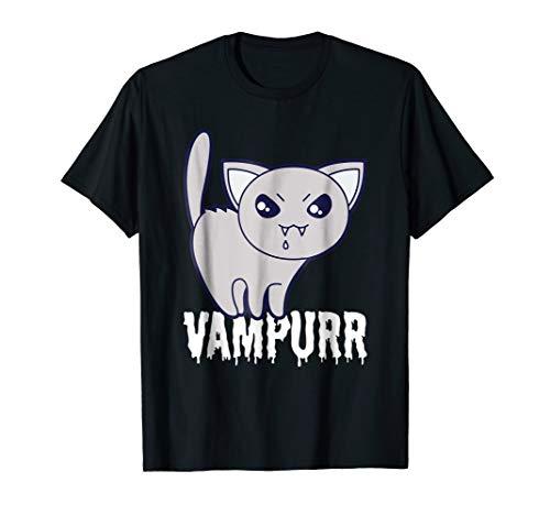 Vampurr Cat Vampire T-Shirt - Funny Sacry Evil Kitty Tee
