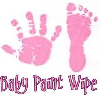 Baby Hand Print Footprint Paint Wipe Kit Pink Imp Prints Co. 400.P