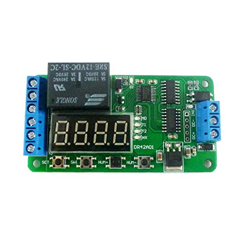 Eletechsup DC 12V DPDT Relay Cycle Timer Module Delay Time Polarity Audio Motor Switching (1)