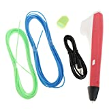 Homyl 3D Printing Drawing Pen Craft Modeling PLA/PCL Filament Arts Printer Tool Red