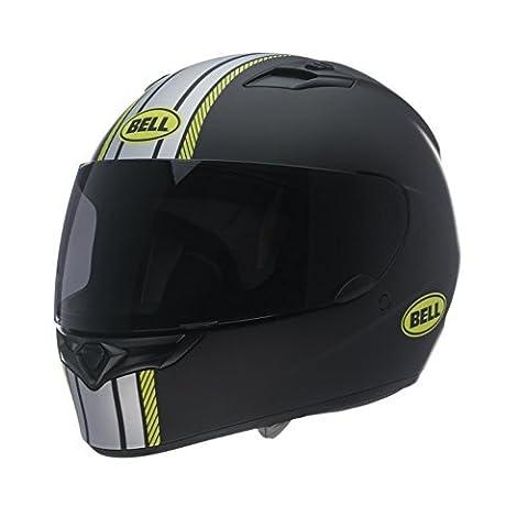 Bell Hi-Vis Rally Adult Qualifier Full Face Motorcycle Helmet - Black/Silver/Yellow - Medium