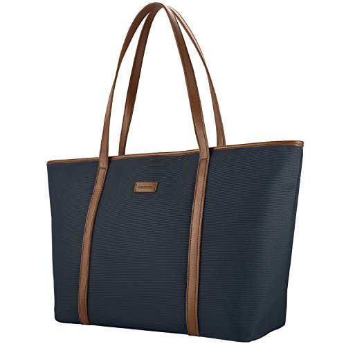 CHICECO 14-Inch Nylon Tote Bag Work Handbag for Files Laptops - Blue