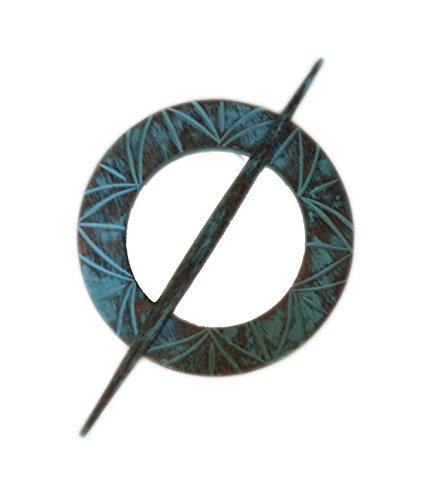 Hind Handicrafts Antique Style Vintage Mango Wood Blue Curtain Tieback SET of 4 Curtain Holder By (6 inch diameter) by Hind Handicrafts (Image #2)